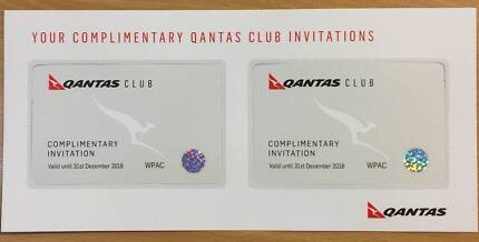 FOR SALE 2 x QANTAS Lounge Pass ONLY $110