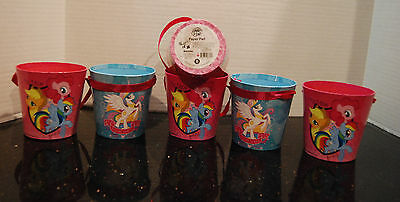 My Little Pony Paperboard Bucket Easter Lot of 6 FIM NWT Party - Halloween Fim