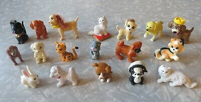 LOT of 18 Doll House Miniature ANIMALS PETS DOGS CATS Barbie, MEG, Assortment