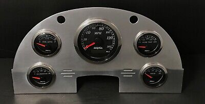 1956 Ford Car GPS Gauge Cluster Black