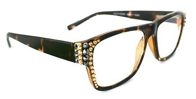 Crystal Reading Glasses w SWAROVSKI Bling / Square Readers +1.5, +200, +250,+300 (Crystal Readers Reading Glasses)