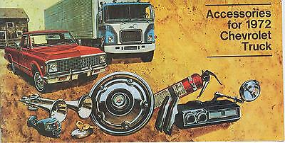 Chevrolet Truck Accessories Brochure - 1972 CHEVROLET TRUCK  GENUINE ACCESSORIES BROCHURE-COVERS ALL CHEVY TRUCK MODELS