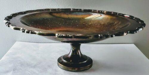 Vintage Compote Bowl Wm A Rogers Silverplate  Pedestal Dish Centerpiece Dish