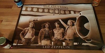 2005 Led Zeppelin Poster Plane Airplane Jimmy Page Robert Plant Rock Metal Tour