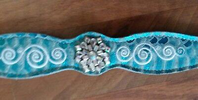 Weaver Leather Snowflake Concho Reptile Overlay Dog Collar, 1
