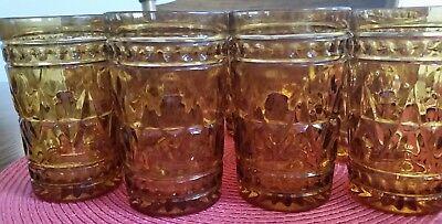 INDIANA GLASS SMALL JUICE GLASSES COLONY PARK LANE VINTAGE MID CENTURY SET OF 5