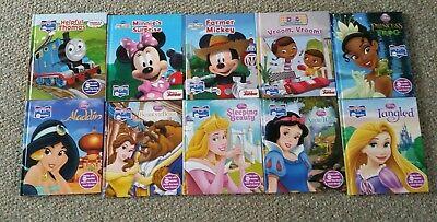 Disney Princess Story Reader - Lot 10 DISNEY STORY READER Me Reader Mickey~Minnie~Princess~Thomas~Doc Mcstuffin