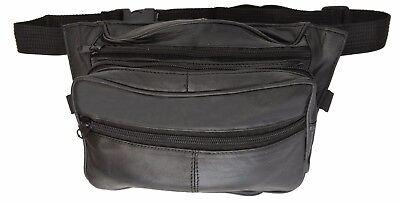 Leather Hand Gun Pistol Holder CCW Concealed Holster Belt Bag Waist Fanny Pack