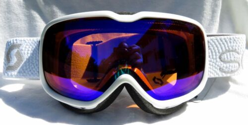 $110 Scott Womens Aura Classic Gloss Winter White Ski Goggles smith NL-45 Lens