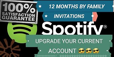 Spotify Premium  12 Months  Active Your Current Account Why Family Invitations