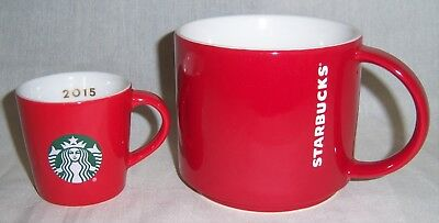 Starbucks Red Cups Large Mug and 3oz Mini Espresso