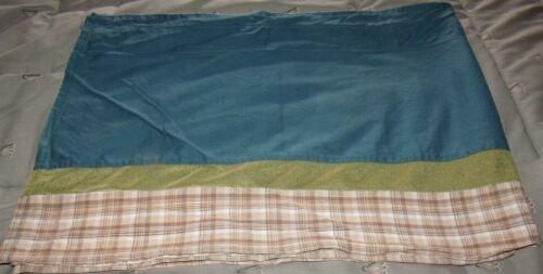 window valance blue green and brown plaid