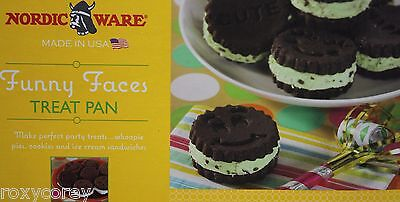 Nordic Ware Nonstick Funny Face Whoopie Pie Cookies Ice Cream Treat Pan Makes - Whoopie Pie Pan
