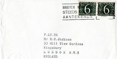 Netherland cover posted to england on23-XI 1966