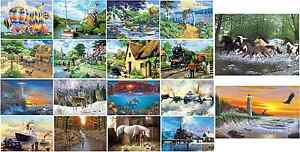 LARGE-A3-ACRYLIC-PAINT-BY-NUMBERS-KITS-BRUSH-INSTRUCTIONS-PICK-FROM-18-PAINTINGS