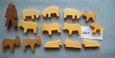 Holztiere Schafe, Ziegen etc.14 Teile neu. Set 1 online kaufen