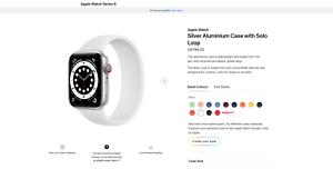 BrandNew Apple Watch Series 6 GPSCell44mmSilverAluminium $650 RRP$799