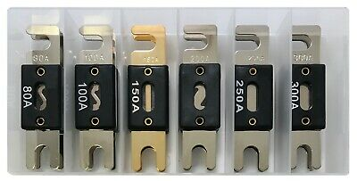 (12) ANL Fuse Wafer Assortment Kit - Includes 80A 100A 150A 200A 250A & 300 Amp 200a Fuse Kit