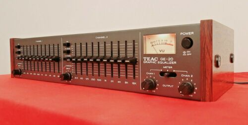 Fully Serviced TEAC GE-20 GE20 10+10 Band Graphic Equalizer w/ VU Meter-XLNT