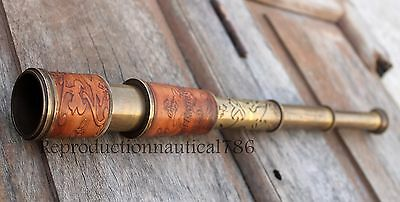 Dollond Brass Antique Spy Glass Telescope Handmade Nautical Pirate Ship Telescop