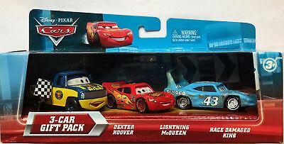 Disney Cars Dexter Hoover, Lightning McQueen, & Race Damaged King (STOCK PHOTOS) na sprzedaż  Wysyłka do Poland