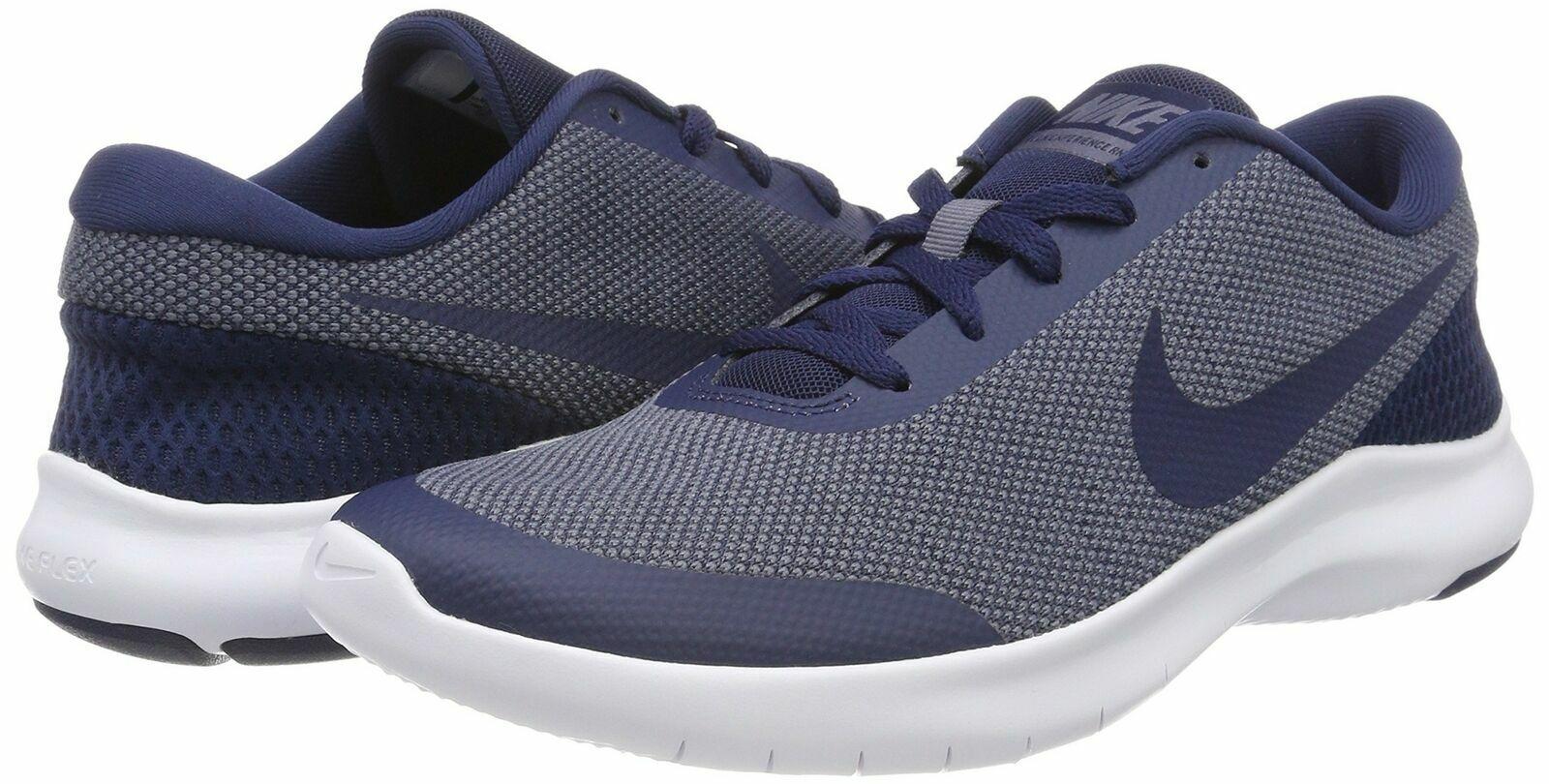 c709eb3c9f530 Nike Flex Experience RN 7 Running Shoes Blue White 908985-400 Men's NEW