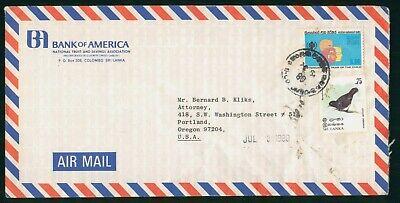 Mayfairstamps Sri Lanka 1980 Bank of America Year of Child Bird Cover wwo_58945