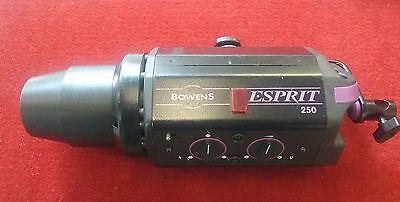 1 Bowens Esprit 250 Flash Head w/RF control. *factory set on high power only*