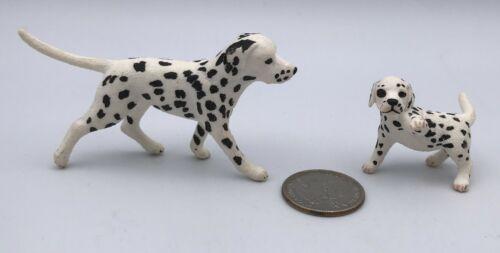 Schleich Dog DALMATIAN MALE & PUPPY Animal Dog Figures 16839 16838