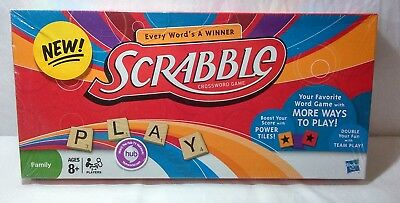 Hasbro Scrabble Board Game With Reload Block Power Tiles 2012   Hasbro Scrabble Board Game