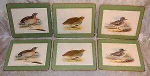 6 Water Fowl  Place Mat Placemat Set Quail Partridge Teal Duck Windsor Hawkesbury Area Preview