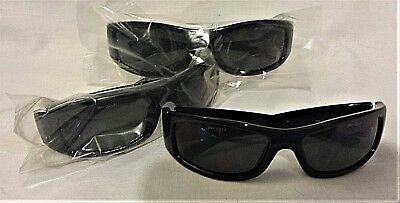 Lot Of 3 - 3m Safety Glasses - Moon Dawg Style - Black Wgrey Lens