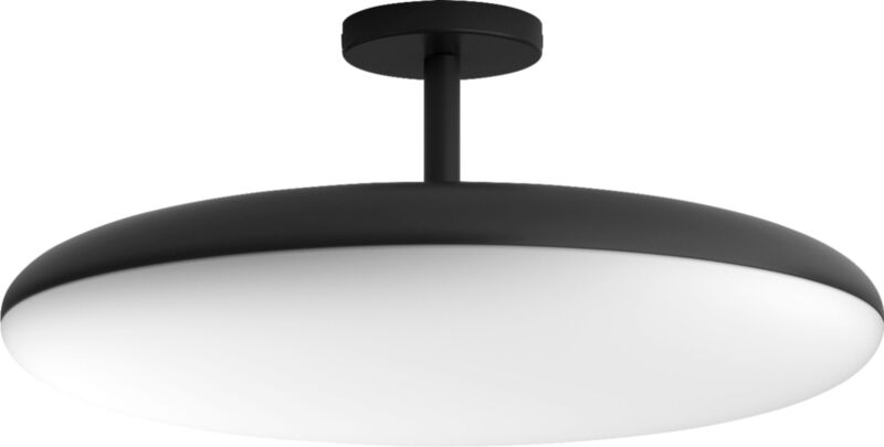 Philips Hue White Ambiance Cher Dimmable LED Smart Semi-Flushmount Light Black 4096930U7