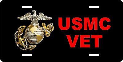 USMC 9 License Plate  Marine Corps Semper Fidelis Car Tag United States Veteran