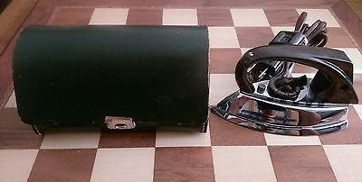Vintage AZN AUTOMATICUS Travel Flat Iron + Green Case Circa 1950s West Germany