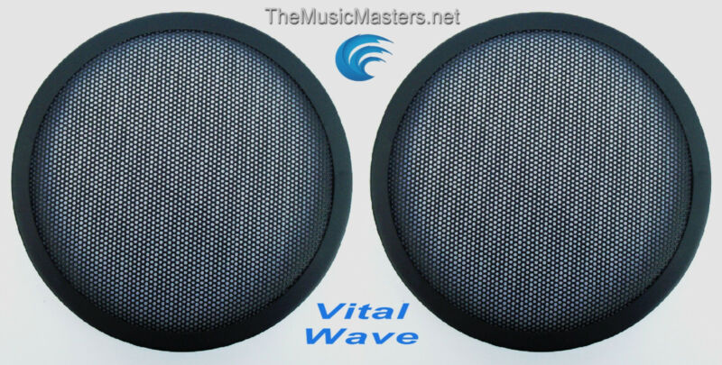 "2X 6.5"" inch Sub Woofer Clipless Fine Mesh GRILL Speaker Protective Covers VWLTW"