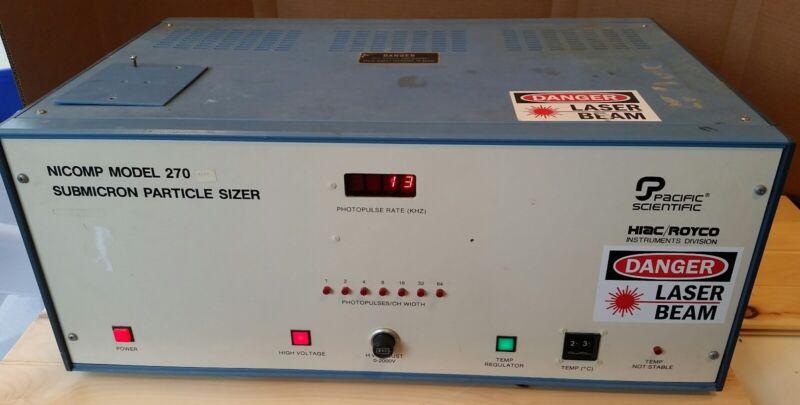 Pacific Scientific (Hiac/Royco) Nicomp 270 Submicron Particle Sizer - USED