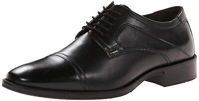 NEW Johnston Murphy Larsey Black leather Cap-Toe Oxford Men's Shoe 20-1277