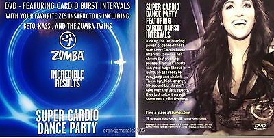Zumba Fitness DVD SUPER CARDIO DANCE PARTY Region Free...Plays in All Countries (Zumba Fitness Cardio)