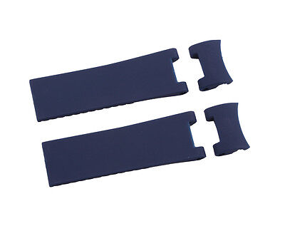 Blue Silicone Rubber Diver Watch Strap Band For ULYSSE NARDIN MARINE   (Marine Silicone Rubber)