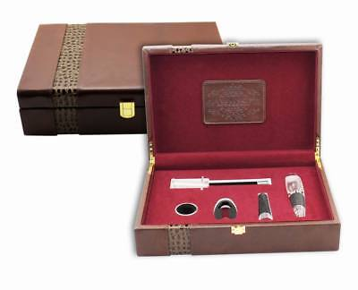 Deluxe Wine Accessory Leather Gift Set S/5 – Model AUS28