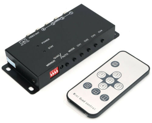 Professional 4-Channel Mini Quad View Video Processor