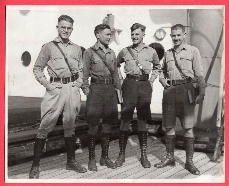 1929 German Boy Scouts to Fight Their Way Around the World Original News Photo