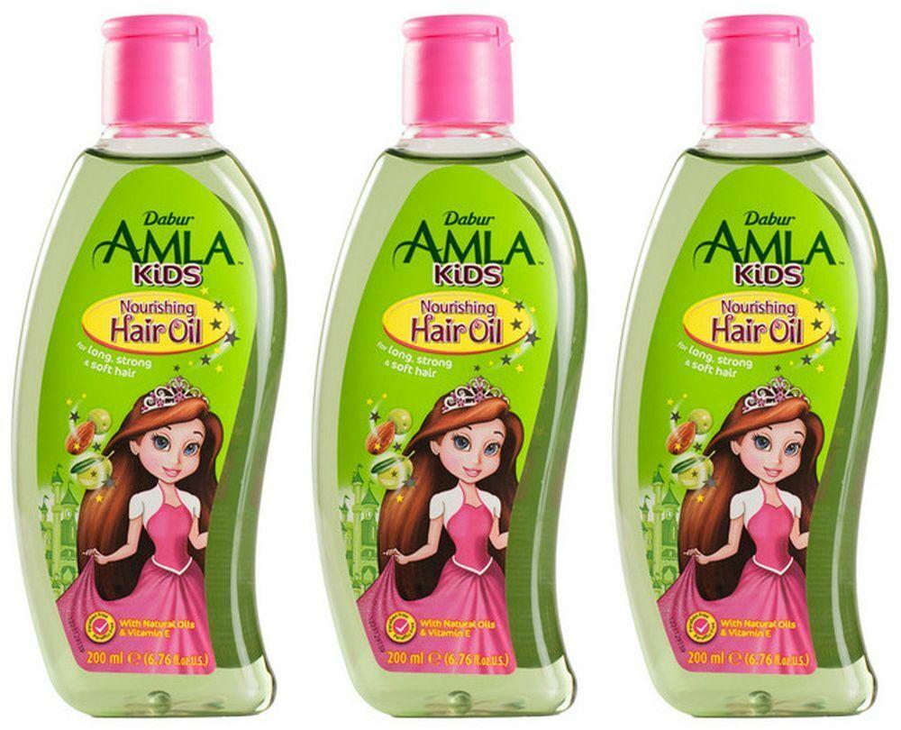Dabur Amla Kinder Kids Haaröl Haarpflegeöl kräftiges Weiches Haar Indien 200ml