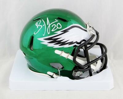 8fb76ce06e7 Brian Dawkins Autographed Philadelphia Eagles Chrome Mini Helmet- JSA W Auth