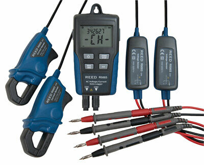 Reed Instruments R5003 Ac Current Voltage Data Logger 2-channel W Software