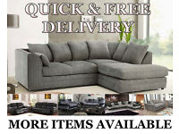 Brand New Cheap Sofas Corner Settees 3 + 2 Seaters Fabric Or Leather Quick Delivery Or Collection