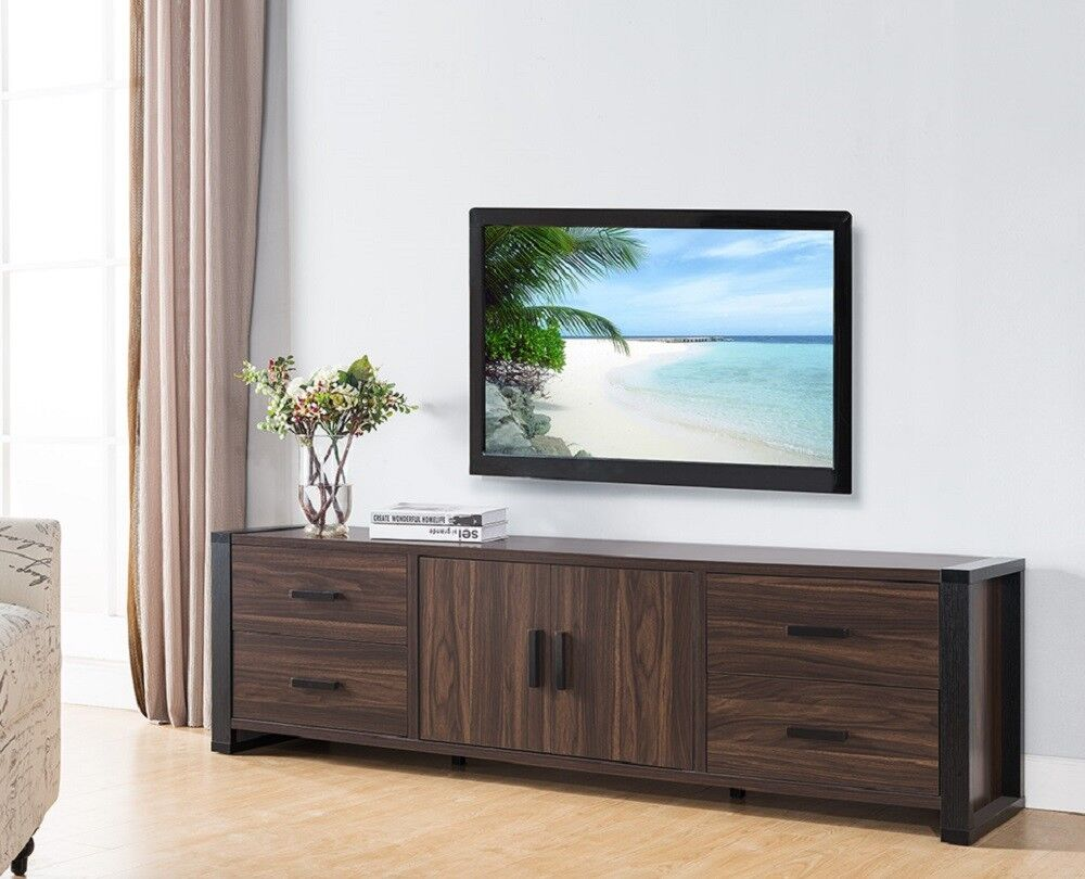 Smart home Dark Walnut & Black Edition TV Stands