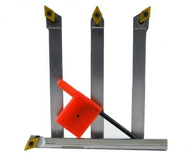 Micro 100 4pc. Indexable Turning Tool Set Including 1ea. 38 Boring Bar