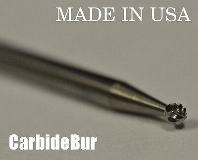 "NEW 1/8"" Ball Shape SOLID Carbide Bur Tool Bit for Die Grinder SD-41 DBL"